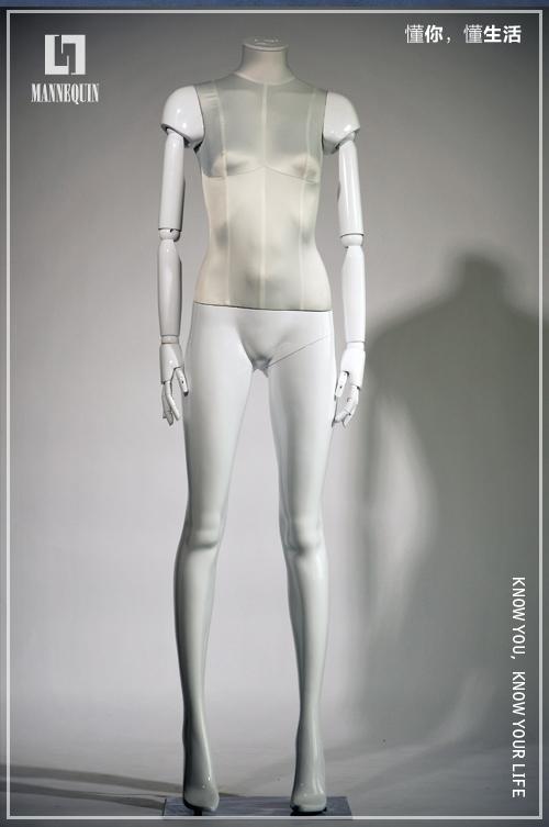 L7女款无头白色包布模特道具