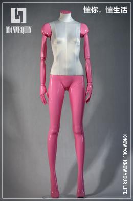 无头女款粉红色包布模特道具