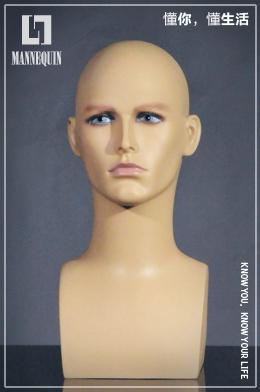 l7男款PVC化妆模特头PD1T