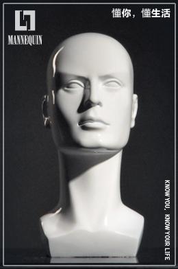 L7男款PVC模特头PD2
