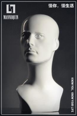 l7男款玻璃钢模特头SMO2T-w