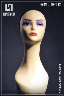 L7女款PVC化妆模特头PD3-28#