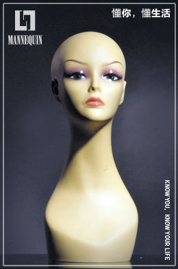 L7女款PVC化妆模特头PD3R-26#