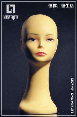 L7女款PVC化妆模特头PDA