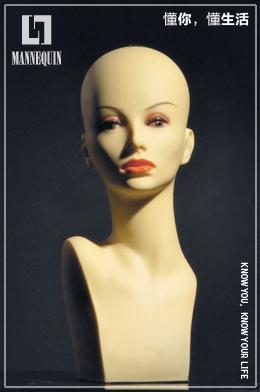 L7女款PVC化妆模特头PDHB-18