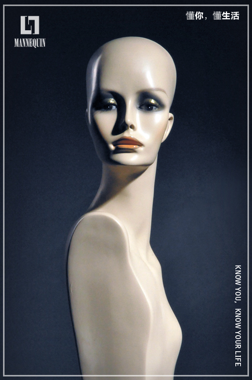 L7女款玻璃钢化妆假发模特头SDHL