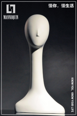 L7女款哑光白色长款玻璃钢天鹅模特头SBH
