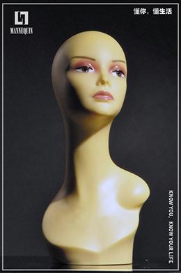 L7女款PVC化妆模特头PQ6-8