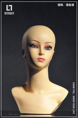 女款PVC化妆模特头PT1C