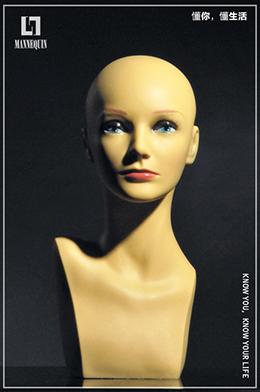 女款PVC化妆模特头PXL