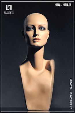L7女款玻璃钢化妆假发模特头SDHM