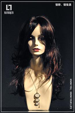 L7女款玻璃钢化妆假发模特头SH21