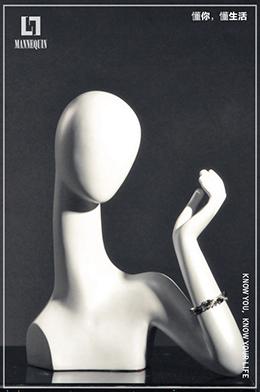 L7女款玻璃钢化妆假发模特头SHAND1