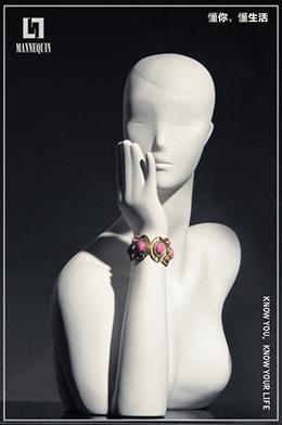 L7女款玻璃钢化妆假发模特头SHAND2