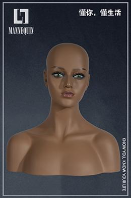 玻璃钢假发展示模特头